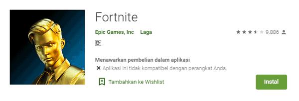download game fortnite di play store