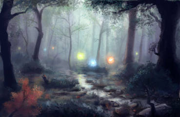 Cahaya mistis suatu pertanda kejadian