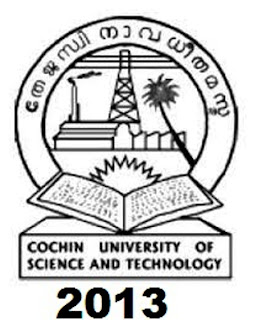 CUSAT 2013 Online Application Form Notification,Date