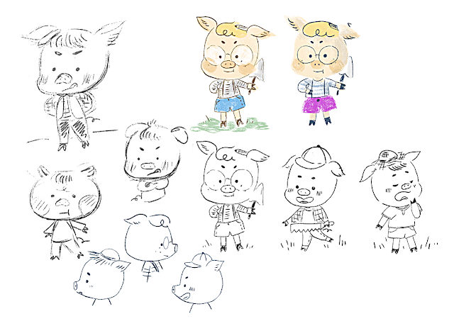 cochons, cerditos, tale, pigs