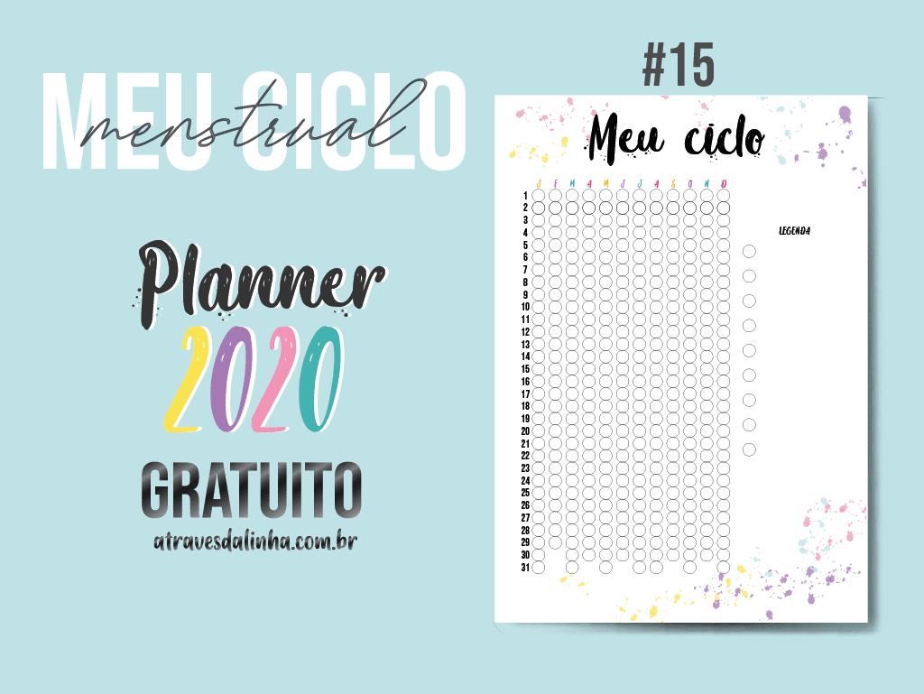 planner 2020 calendario menstrual