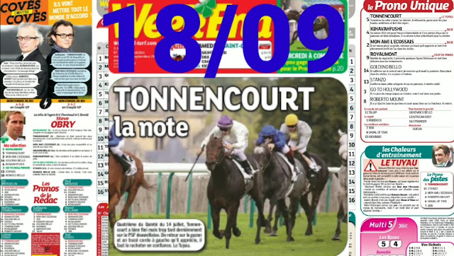 Pronostic quinté+ pmu samedi Paris-Turf TV-100 % 18/09/2021