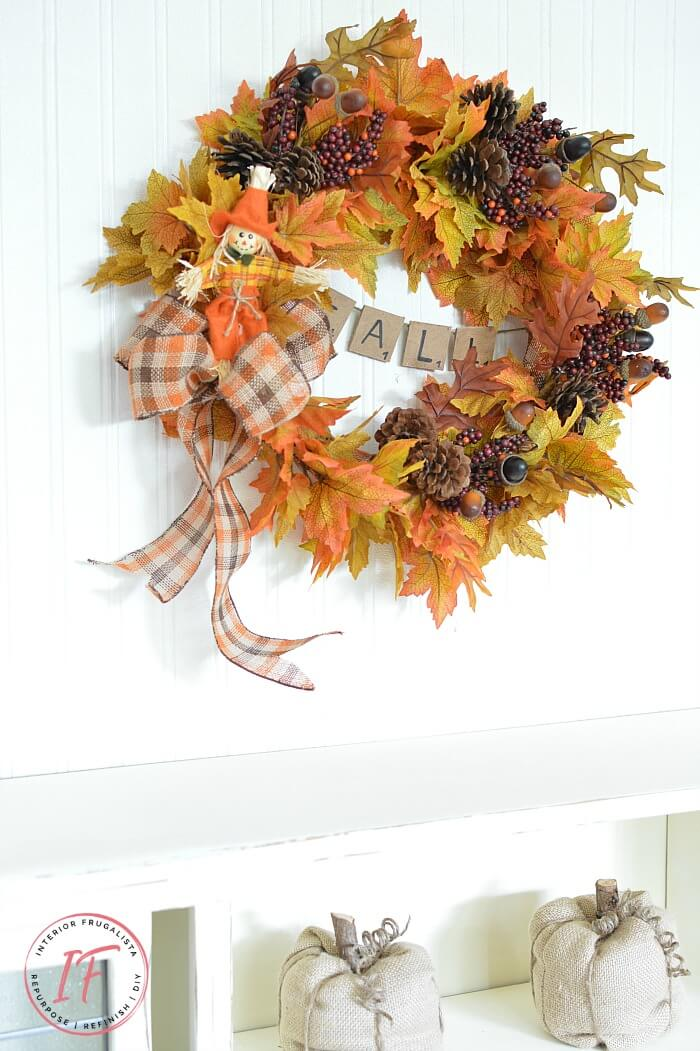 Easy Peasy Traditional Fall Wreath