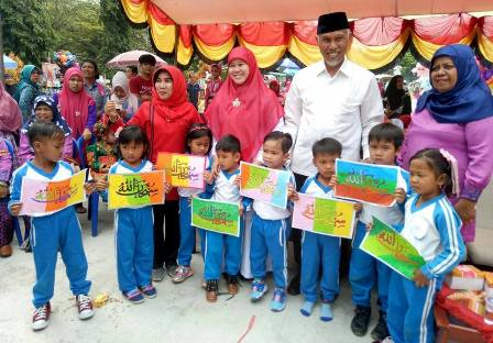 Walikota Apresiasi Lomba Tari Batok Dan Kaligrafi Tingkat Tk