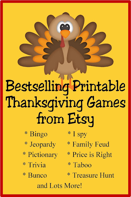 Print out some family fun at your Thanksgiving party with these tried and true printable Thanksgiving games.  These games are best sellers from Etsy and by printing them you are supporting small businesses and families during this crazy year, as well as making a fun and easy party game for your Thanksgiving guests.