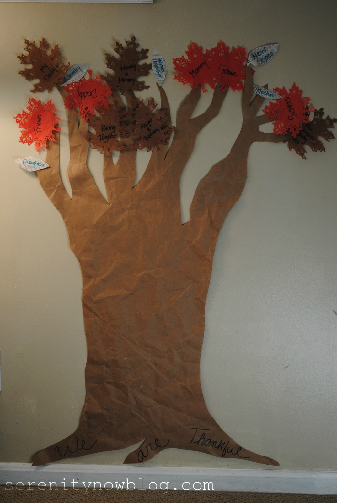 Serenity Now Homemade Thanksgiving Tree Craft