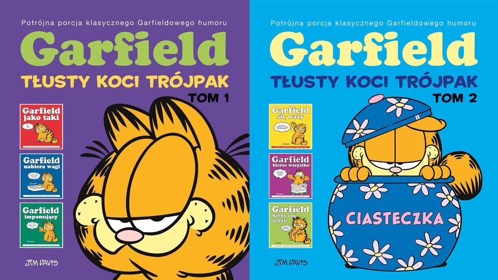Początki Pomarańczowego Kota Garfield 1 2 Tłusty Koci Trójpak