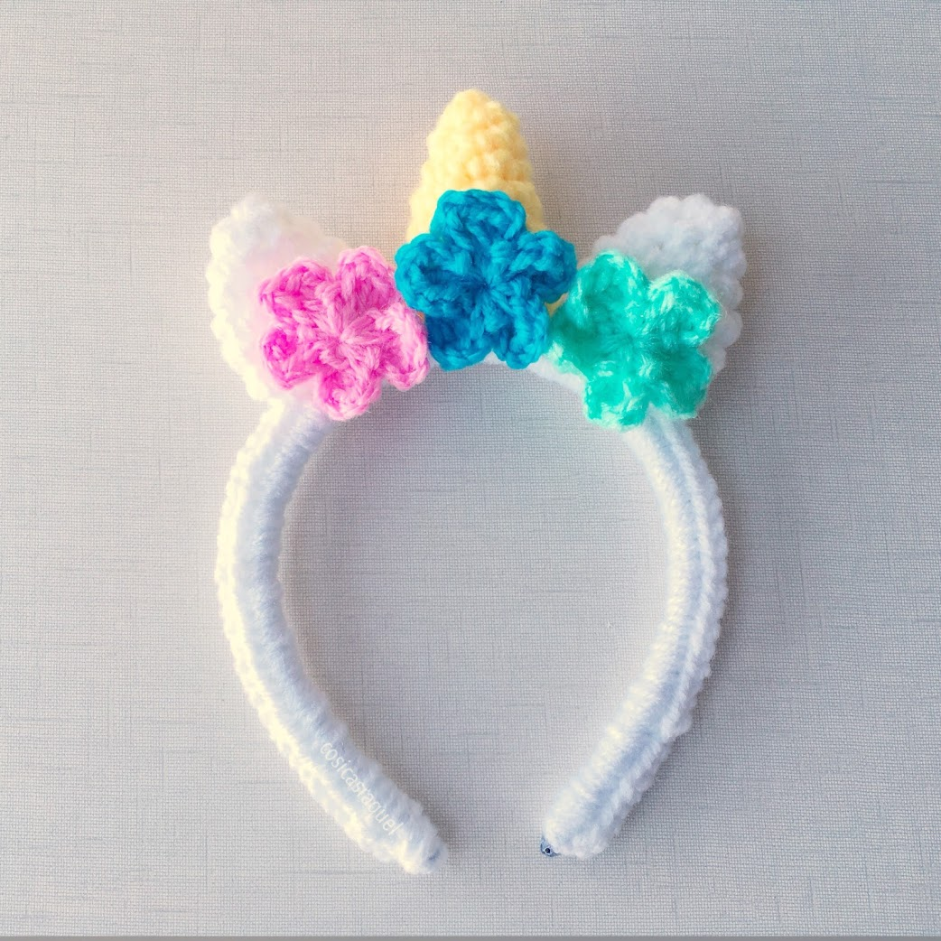 Cosicasraquel Diadema Unicornio Crochet