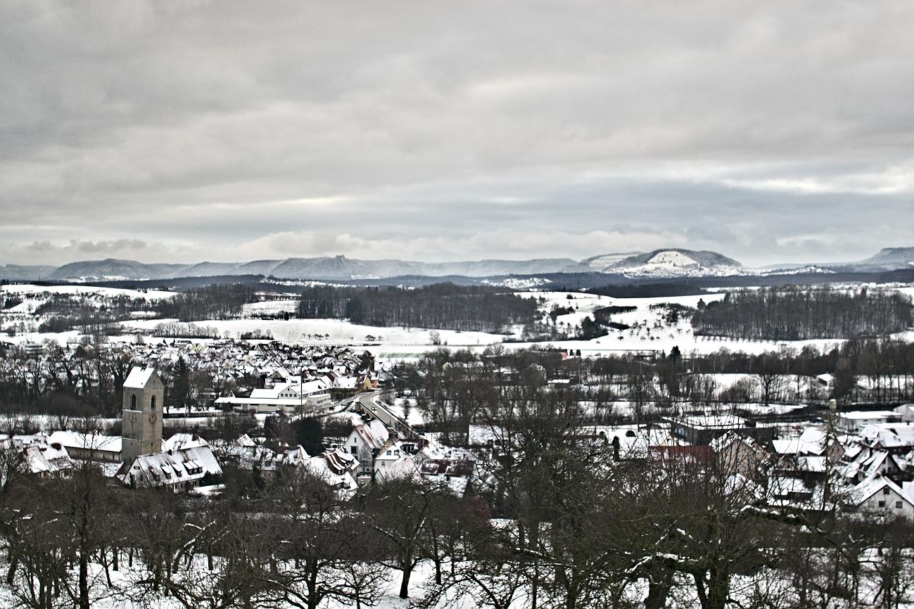 Bild des Tages #21 — Endlich auch Schnee im Neckartal