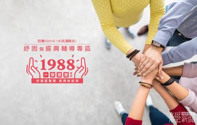 產業紓困振興專線「1988」今正式上線