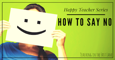 Are you guilty of taking on too many commitments as a teacher? Try these tips for saying no to more and instead doing what you are already doing well. Included are tips to graciously backing out of things you might have already committed to.
