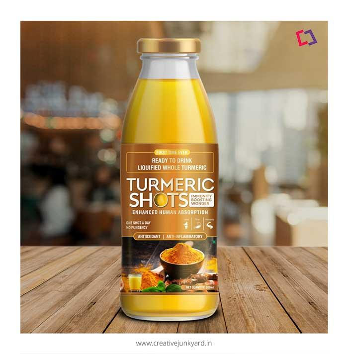 Turmeric shot label design