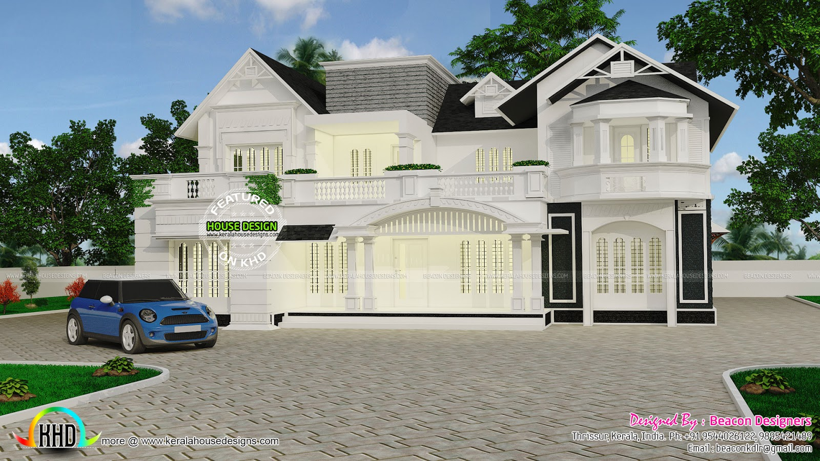 white house european model mix kerala home design and
