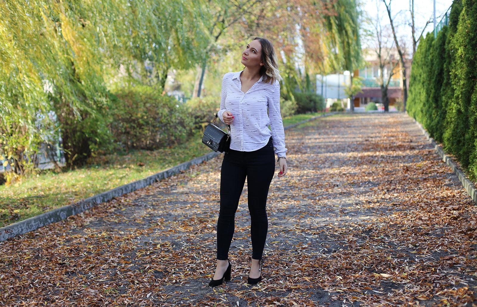 Czarne jeansowe spodnie