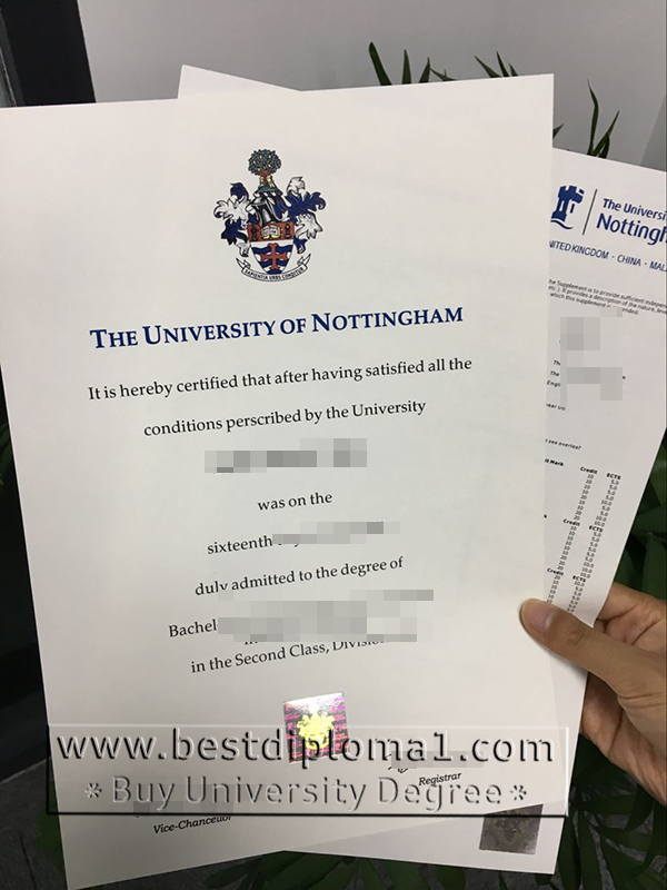 buy a set of Nottingham diploma and transcript