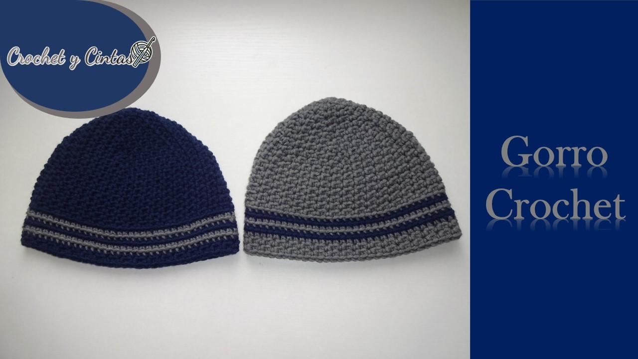 0a8a4b6dbeb18 Gorro crochet para hombres y niños ~ Crochet y Cintas