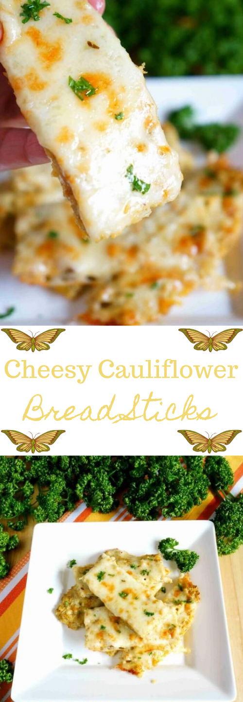 Cheesy Cauliflower Breadsticks #vegetarian #vegan #cauliflower #cheesy #breakfast