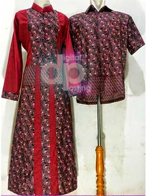 Model Gamis Batik Couple Lebaran 2014