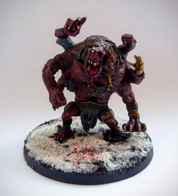 Converted Chaos Spawn for Warhammer Fantasy Beastmen and Age of Sigmar.