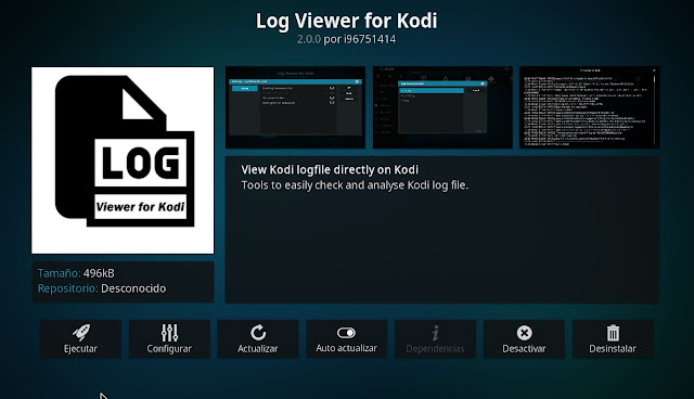 Addon LOG VIEWER