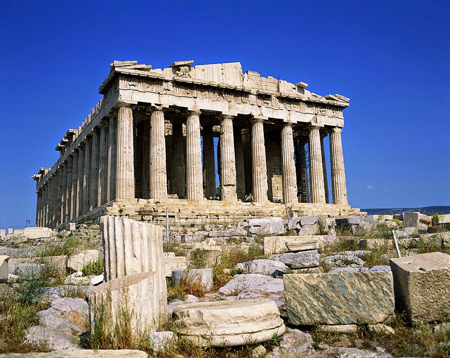 16 Of Your Favorite Landmarks Photographed WITH Their True Surroundings! - Acropolis, Athens