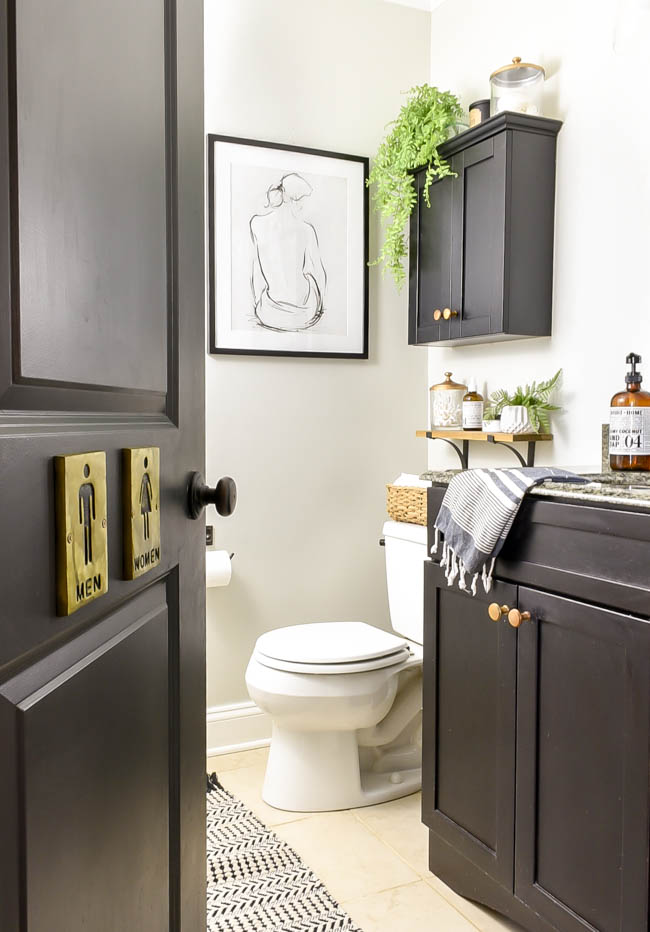 Vintage modern bathroom storage