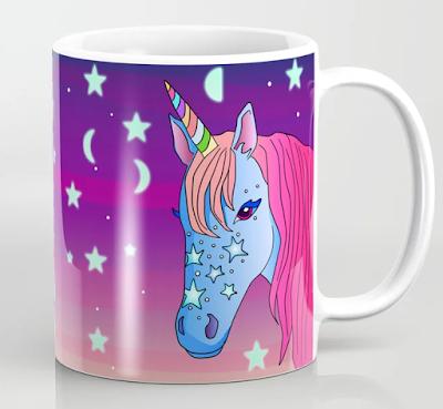 A unicorn coffee or tea mug / Kahvi- tai teemuki yksisarvisesta