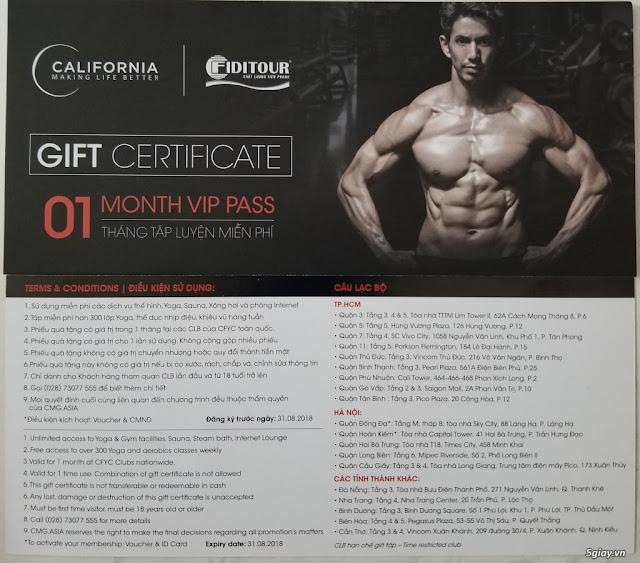 Thẻ Tập Thử Tại Phòng Tập Gym Giá Rẻ Quận 5 California Fitness & Yoga Thì Như Thế Nào