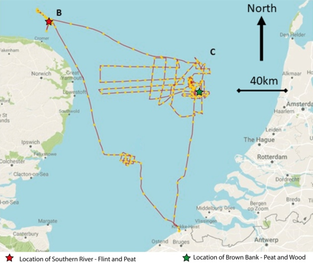 First archaeological artefacts found during search for lost prehistoric settlements in North Sea