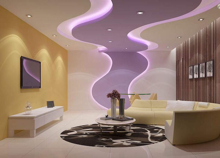 Modern Living Room Lighting Ideas For False Ceilings And Walls 2019
