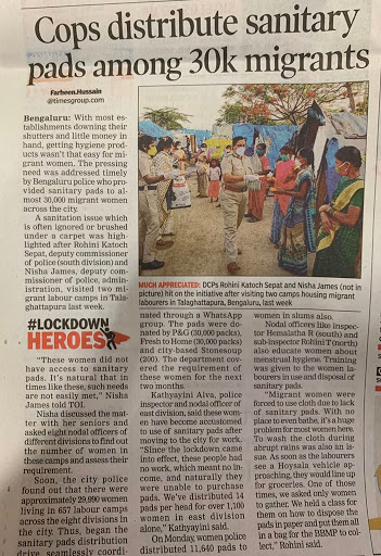 news article of bangalore police during covid19 lockdown