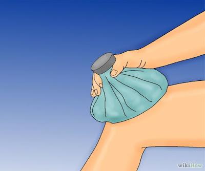 Hielo para calmar el dolor de rodilla