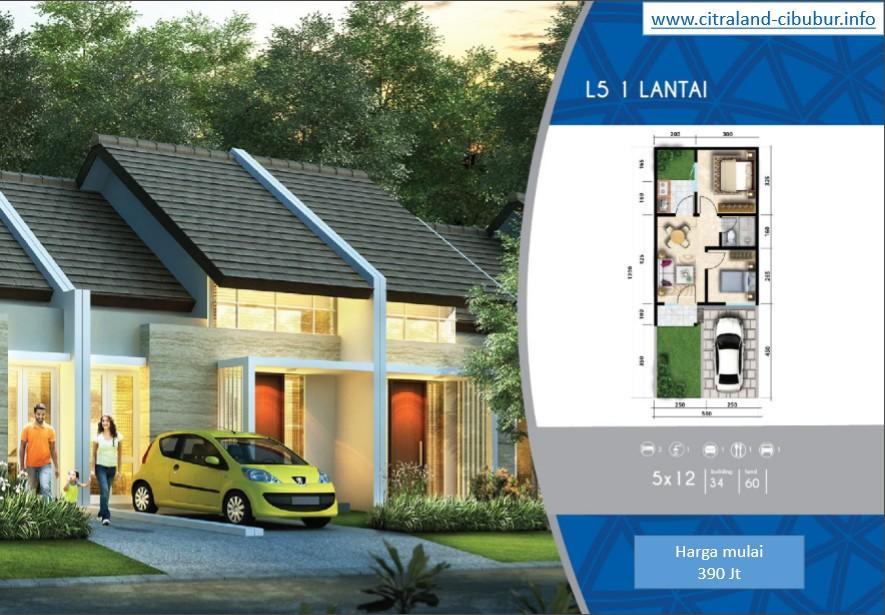 Rumah Citraland Cibubur type 5x12