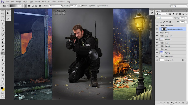 36 Tutorial Photoshop Dramatic Manipulation WAR part 2