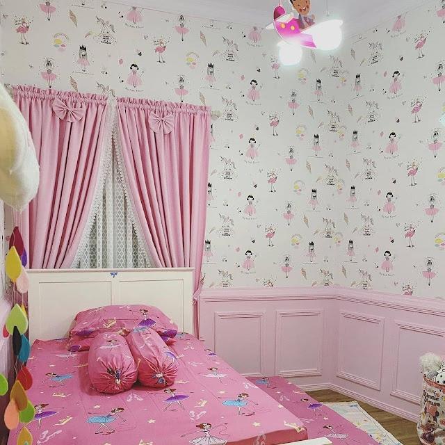 Ide Motif Wallpaper Dinding Kamar Tidur Romantis Terbaru