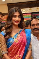 Puja Hegde looks stunning in Red saree at launch of Anutex shopping mall ~ Celebrities Galleries 016.JPG