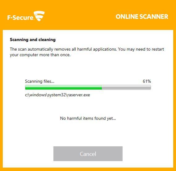 F-Secure Online Scanner | Supratim Sanyal's Blog