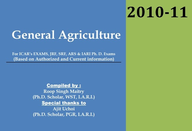General Agriculture Roop Singh Maitry pdf book