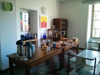 Breakfast table for meditative people