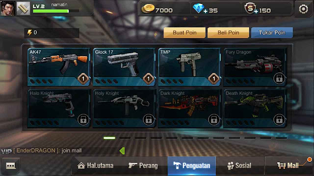 kumpulan kode senjata crisis action game guardian