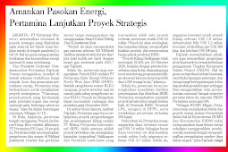 Secure Energy Supply, Pertamina Continues Strategic Projects