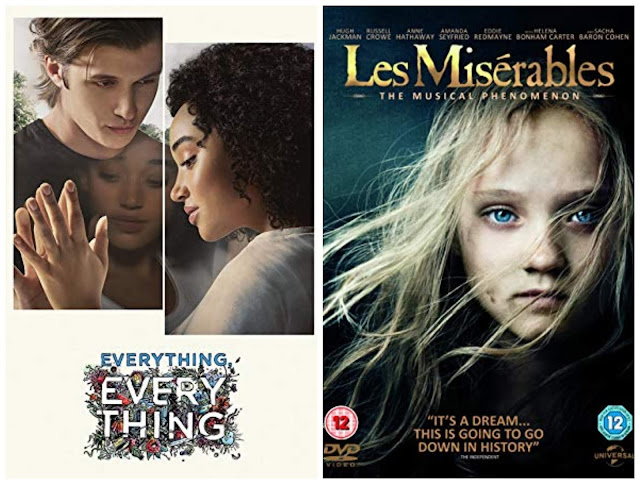 collage - Everything Everything poster, Les Miserables poster