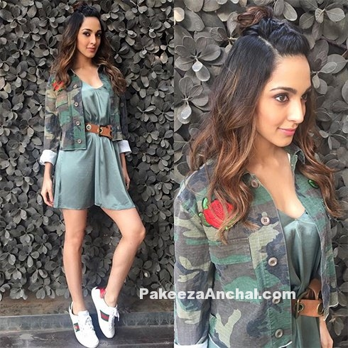 Kiara Advani in H& M Skirt & Military Jacket