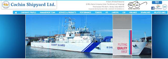 Free Job alerts at Cochin Shipyard Limited