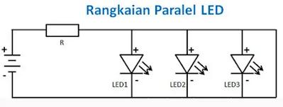 Cara Membuat Rangkaian Lampu LED Secara Paralel