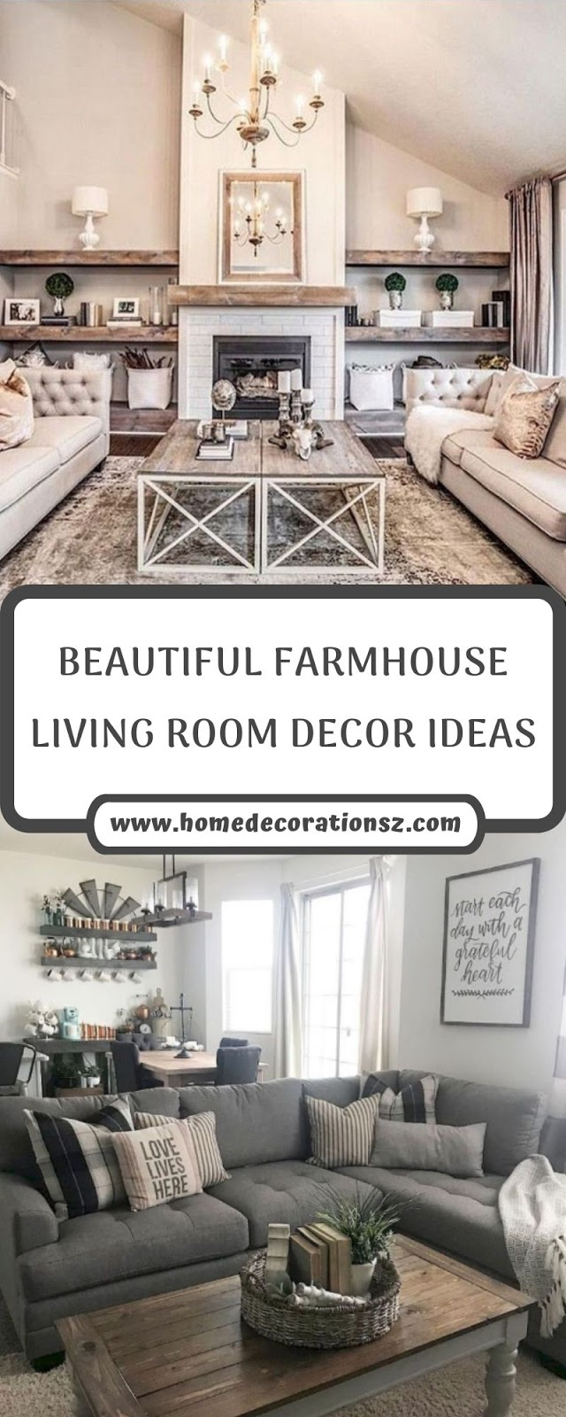 BEAUTIFUL FARMHOUSE LIVING ROOM DECOR IDEAS