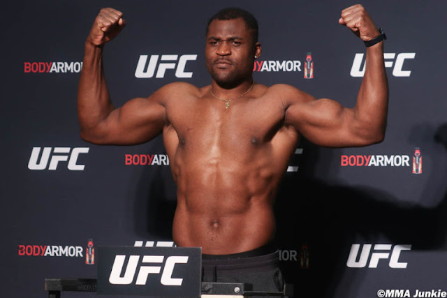 Francis Ngannou UFC 249 Weigh In