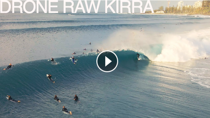 drone raw kirra july 4 2021 surfing drone 4k dji waves surf perfect swell and pumping barrels surfin