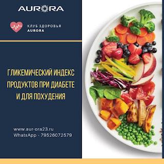 Гликемический индекс продуктов при диабете и для похудения