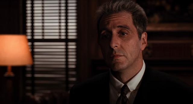 """Al Pacino em cena de """"O Poderoso Chefão - Desfecho: A Morte de Michael Corleone"""""""